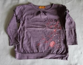 T-shirt 3 ans violet manches longues Tout Simplement