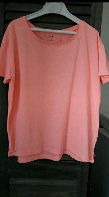 Tee-shirt rose fluo oversize