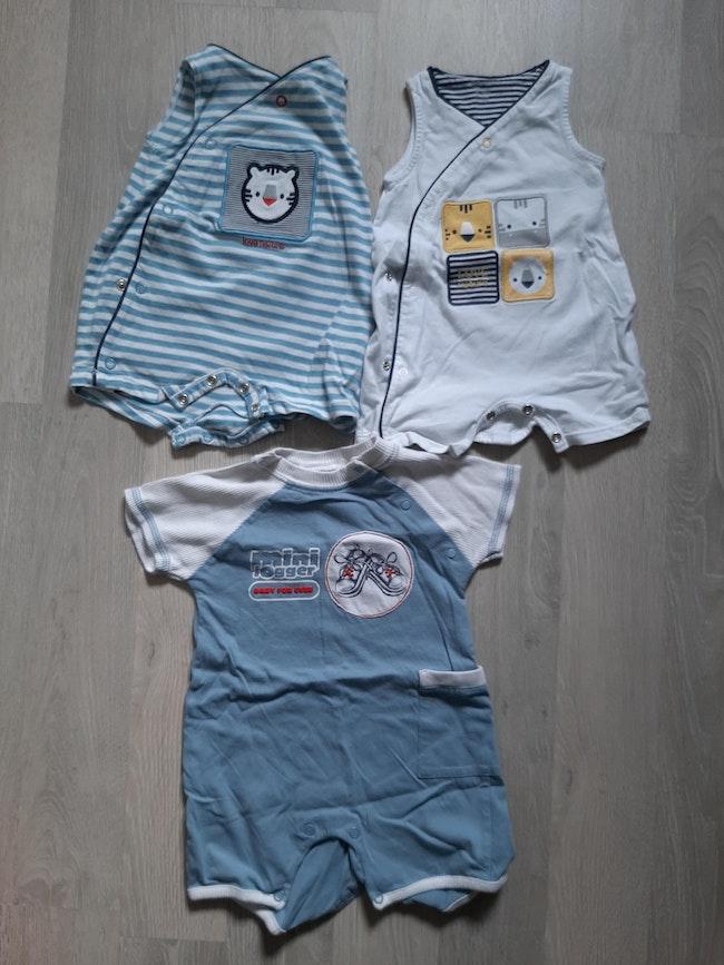 Lot combi shorts 3mois