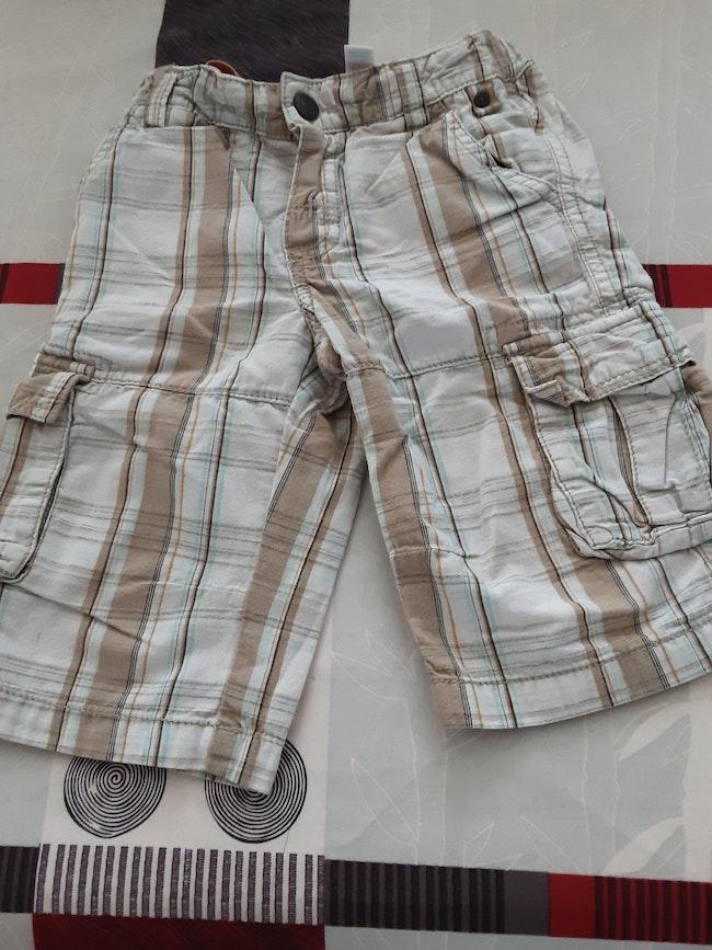 "Short à carreaux ""Obaïbi"" 3 ans"
