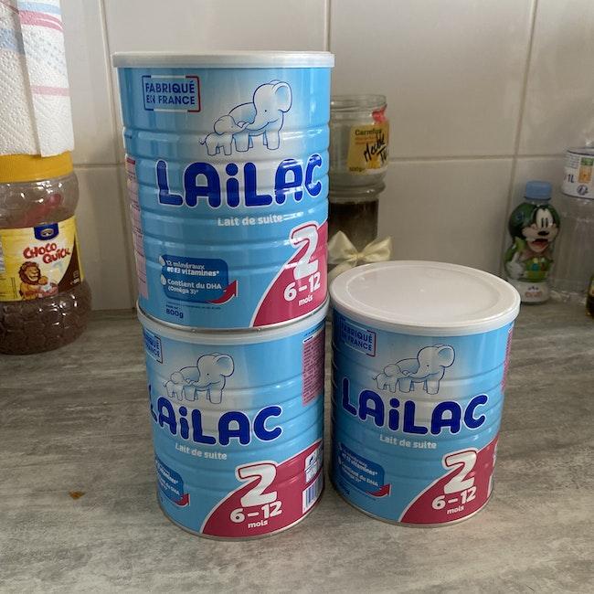 Boîte de lait lailac 2ème âge