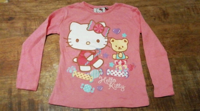 Tee shirt manche longue taille 2 ans hello kitty