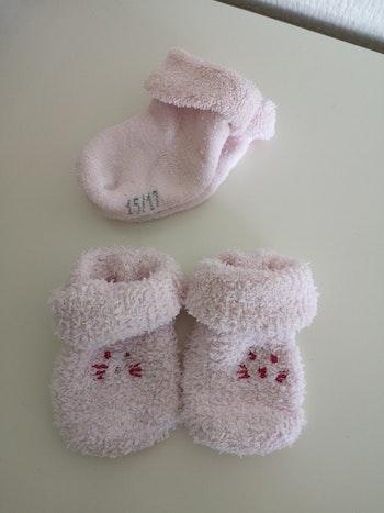 Chaussettes naissance rose