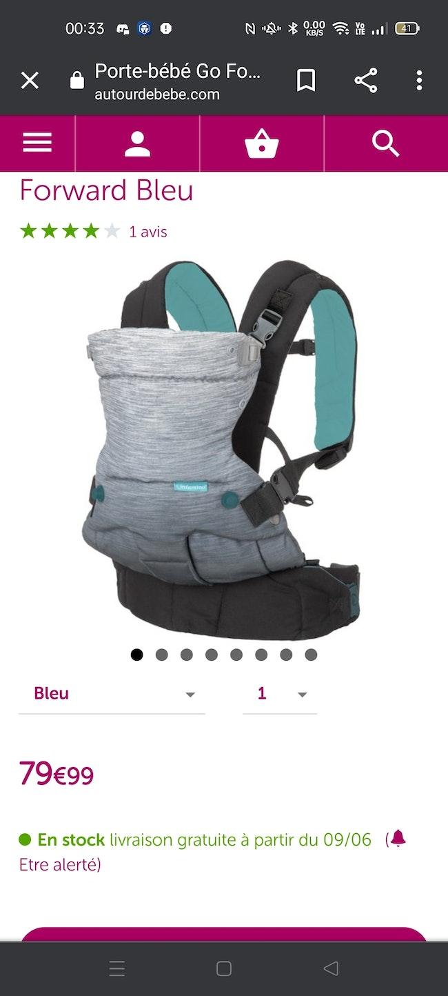 Porte bébé infantino
