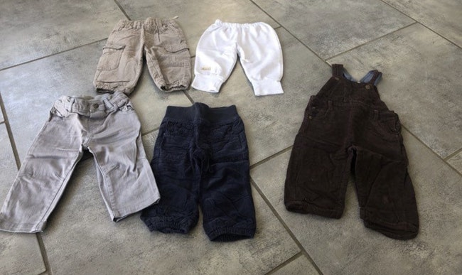 Lot pantalon salopette