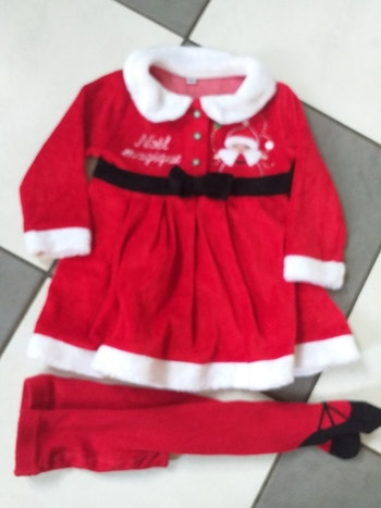 Robe de Noël avec collant 12 mois