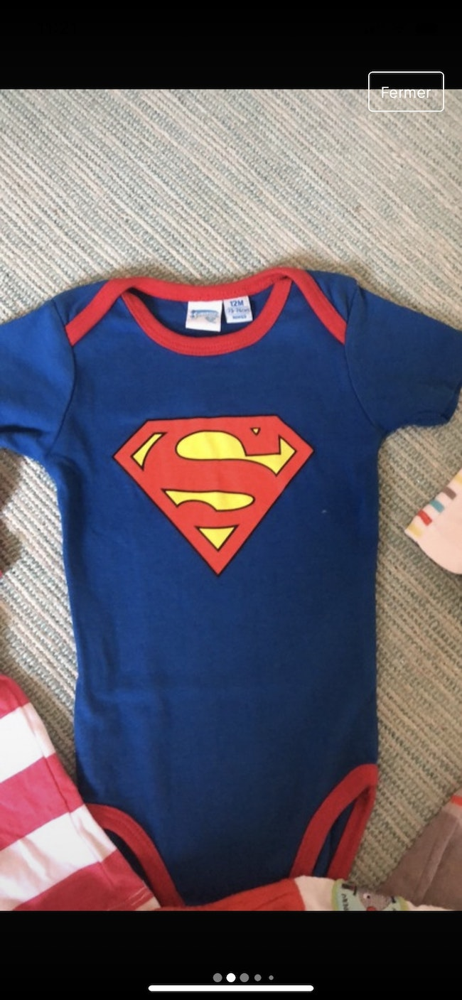 Lot tee-shirts manches courtes / bodie superman