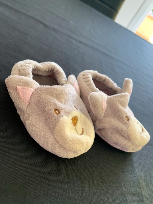 Chaussons beige 3/6 mois