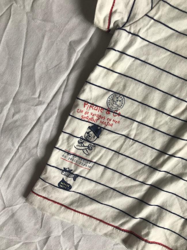 T-Shirt à col SGMJ - taille 9 mois