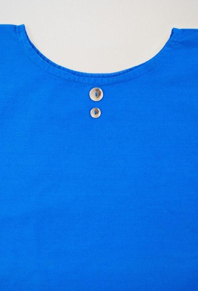 Cropped top loose bleu klein