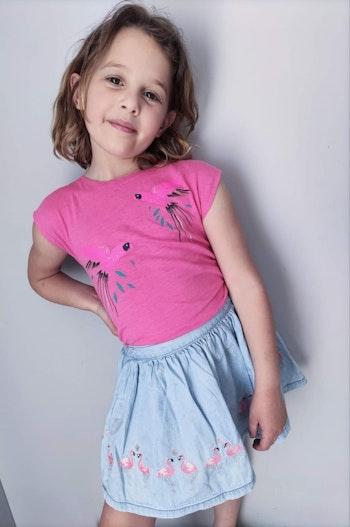4 ans fille ensemble et et t-shirt et jupe