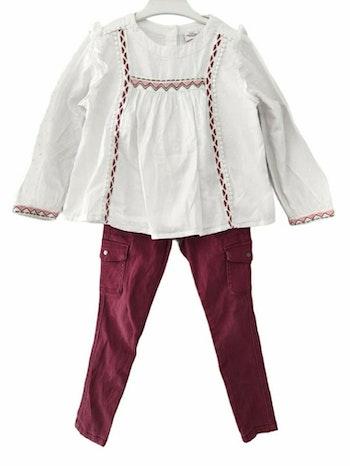 5 ans fille ensemble blouse et pantalon
