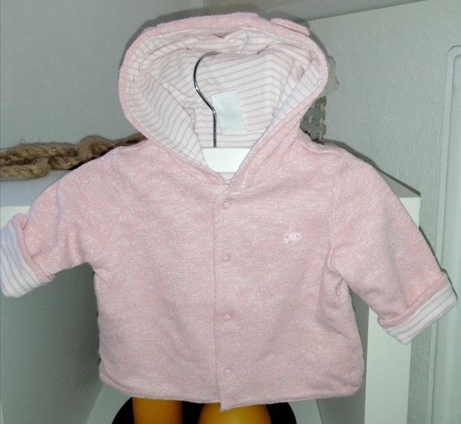 Baby Gap Cardigan reversible à capuche fille 3 mois
