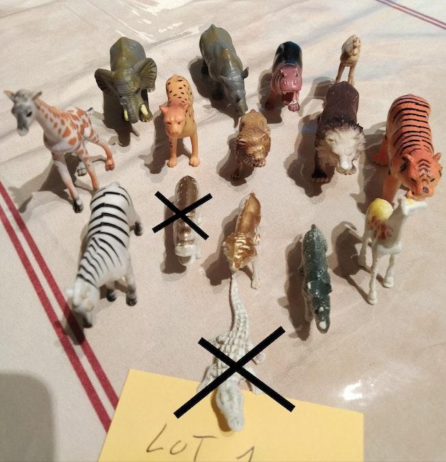 Lot d'animaux