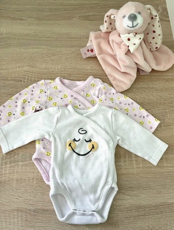 Bodies smiley taille naissance 50cm