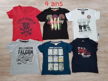 Lot t shirts manches courtes 4 ans