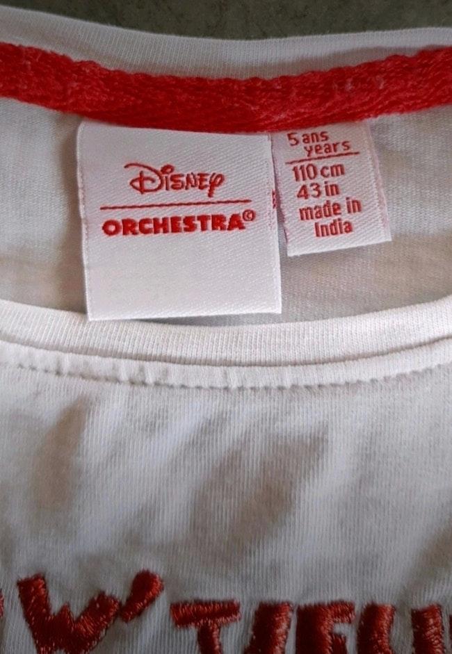 T-shirt Disney Minnie orchestra 5 ans