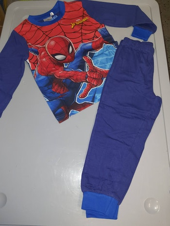 Pyjama spiderman bleu 5marv ans