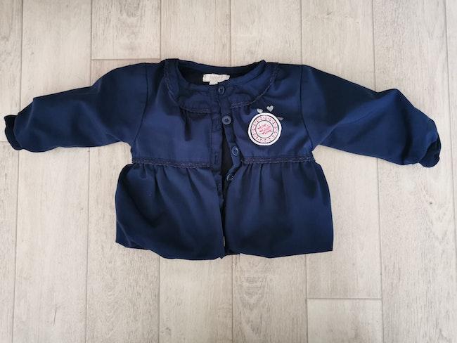 Veste mi saison bébé 9 marine 6 mois