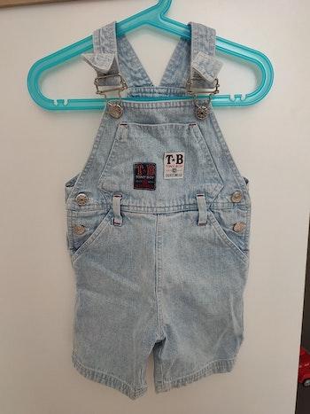 Salopette short 2 ans en jean