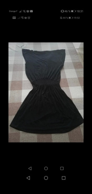 Robe taille 38/40 noire manches courtes colline by Vertbaudet