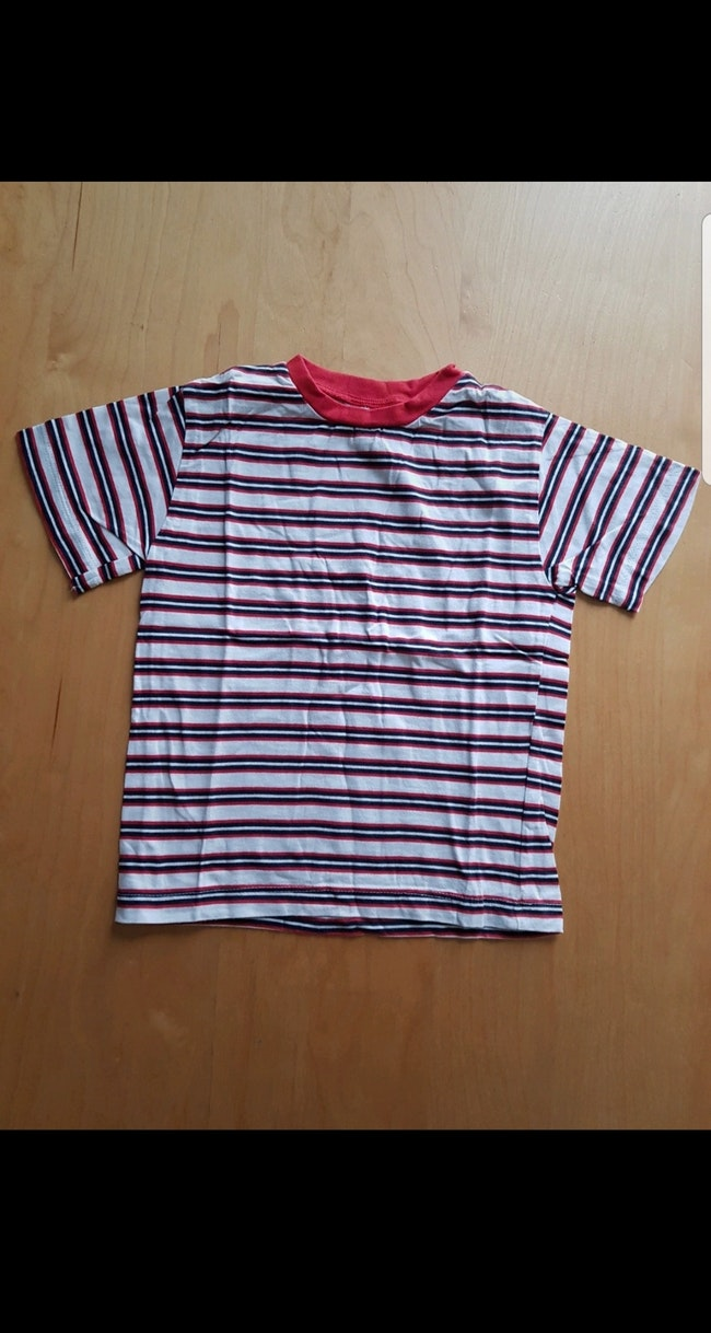 T-shirt à rayures manches courtes enfant garçon 2 ans