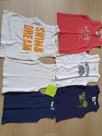 Lot de 6 tee-shirts sans manches 4 ans