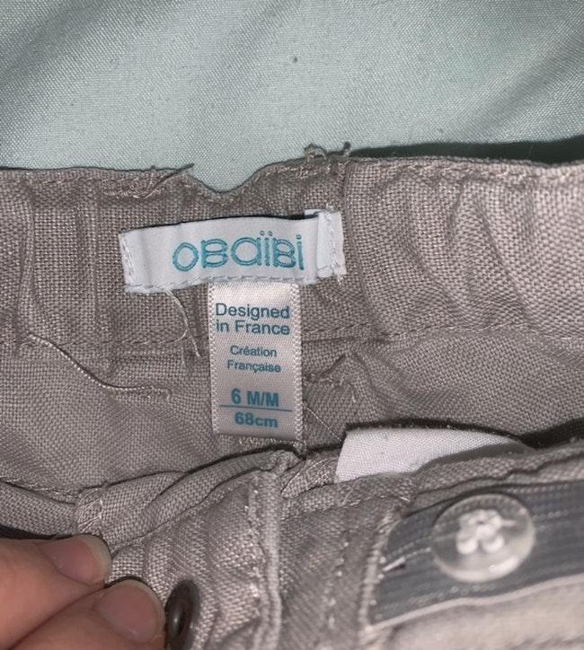 Pantalon obaïbi 6 mois