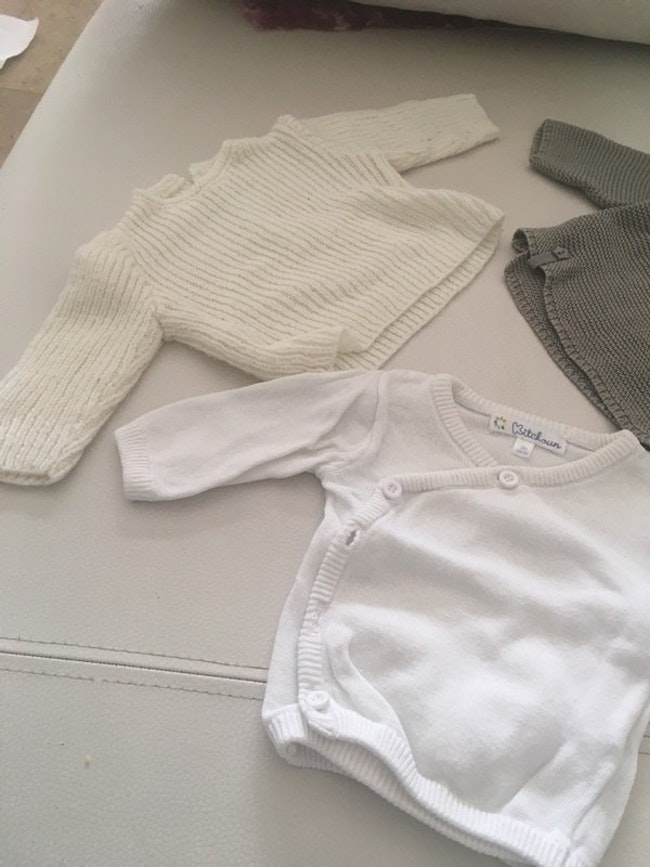 3 gilets taille naissance