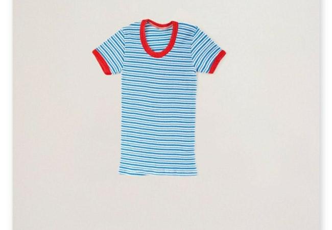 Tee-shirt côtelé à rayures / 5 ans