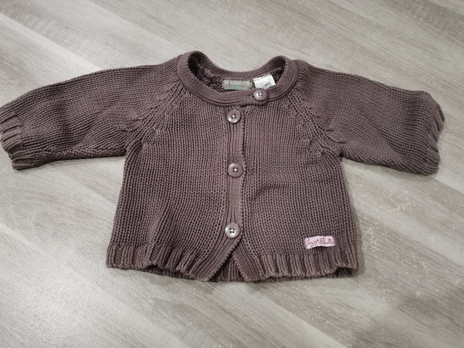 Gilet manches 3/4 2 ans
