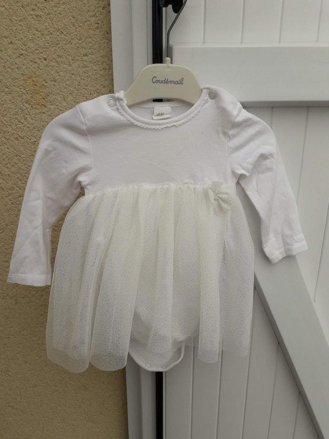 Robe 2 en 1 bébé filles en 3/ 6 mois