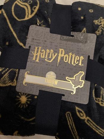 Joli plaid Harry potter marine