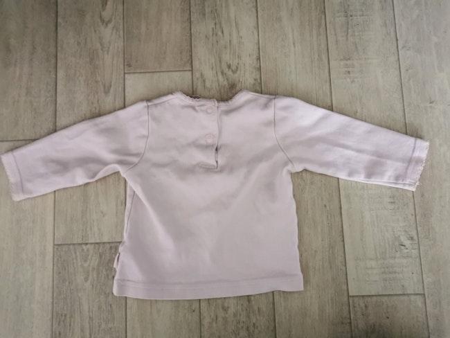 T shirt manches longues rose pâle 6 mois H&M