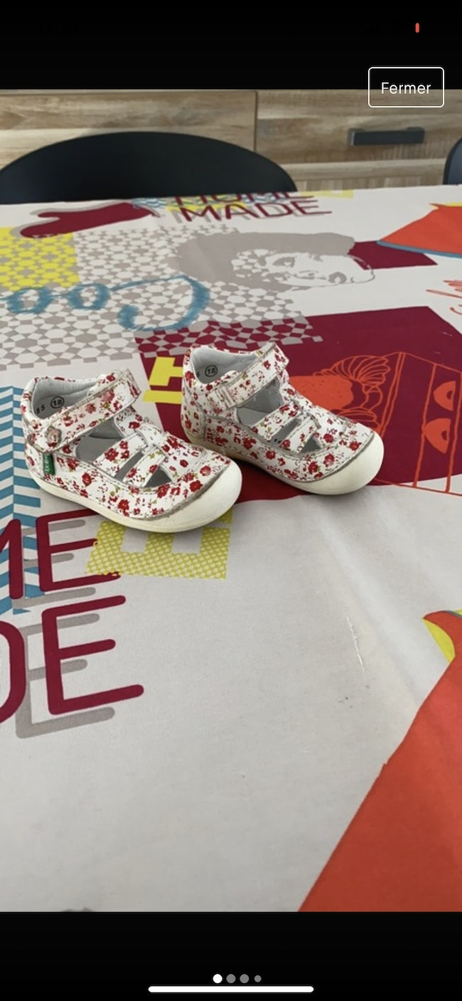Chaussures kickers fille 18
