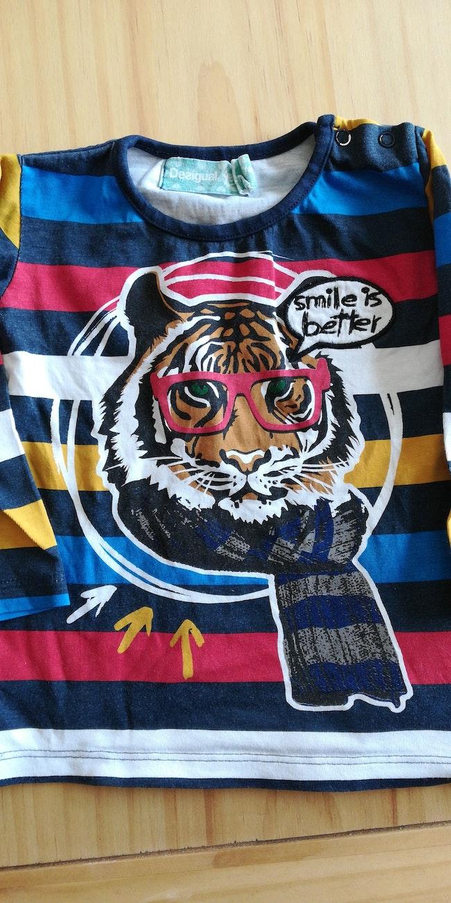 T shirt manches longues tigre