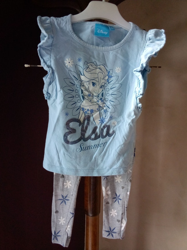 Pyjama fille 3 ans avec motif Elsa fluorescent