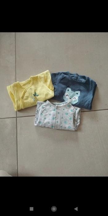 Lot pyjamas cotons 6 mois
