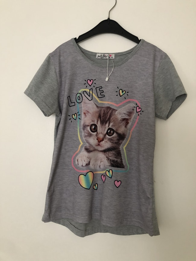 T-shirt taille 12 ans fille chat
