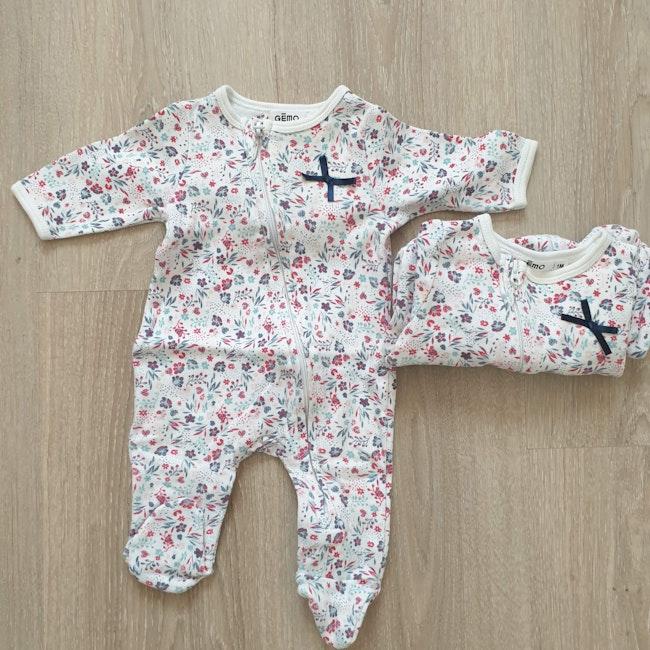 2 pyjamas filles 1mois