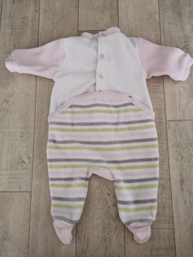 Pyjama velours 1 mois