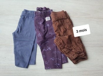 Lot de 3 pantalons