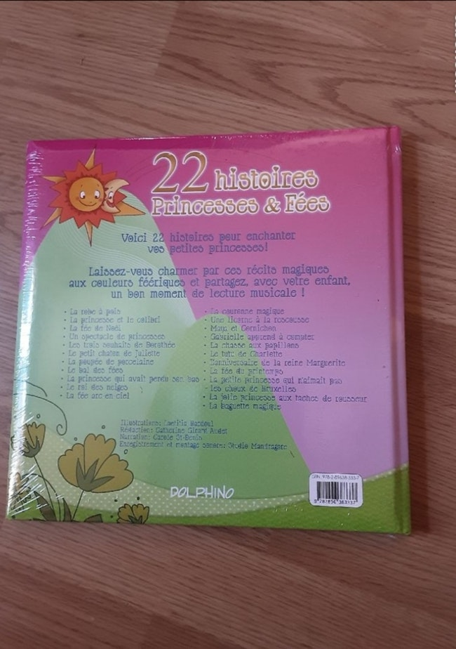 Livre CD neuf sur les princesses et les fées