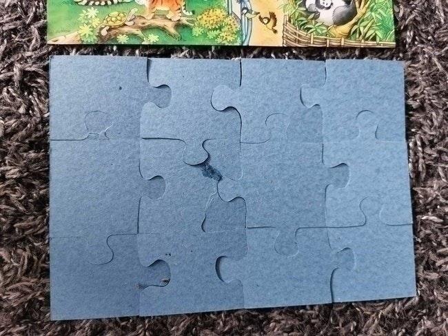 Puzzle 2x12pieces zoo animaux ravensburger