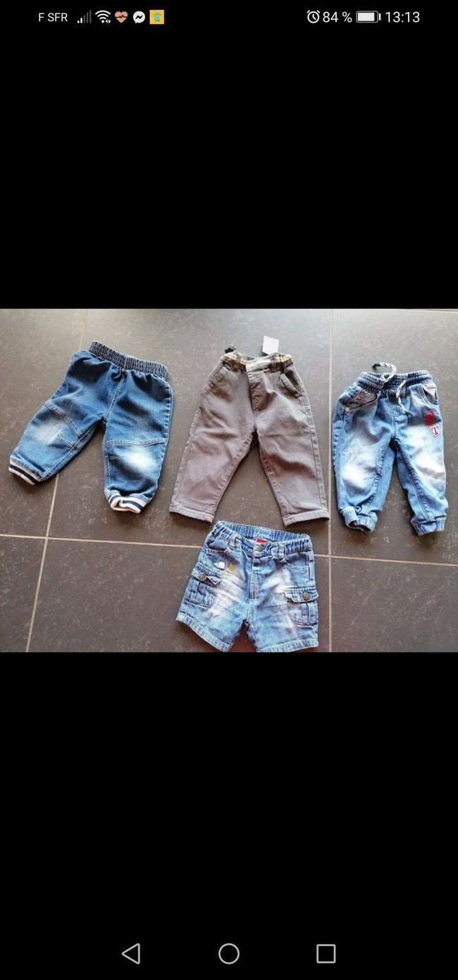 Lot 4 jeans quasi neuf 1an pour 2e