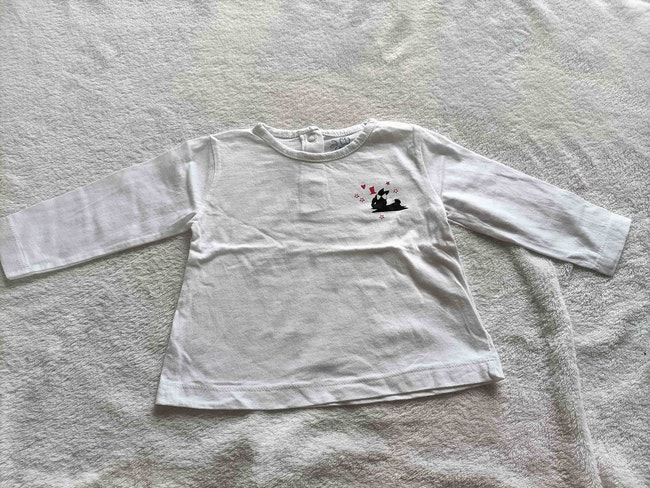 Lot 4 tee shirts 9 mois