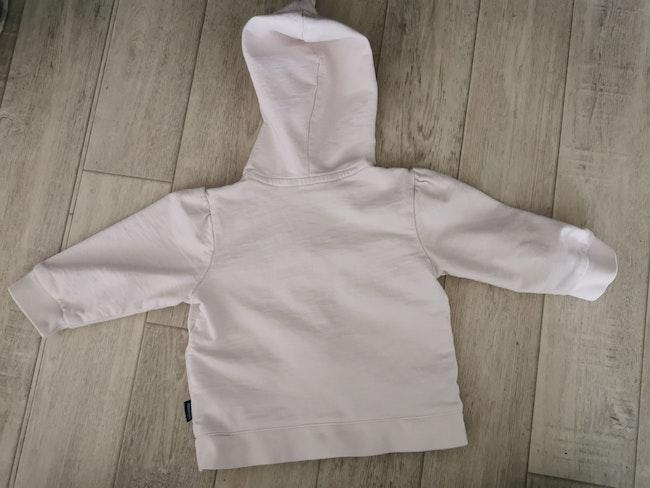 Veste à capuche original marines 6 mois rose pâle
