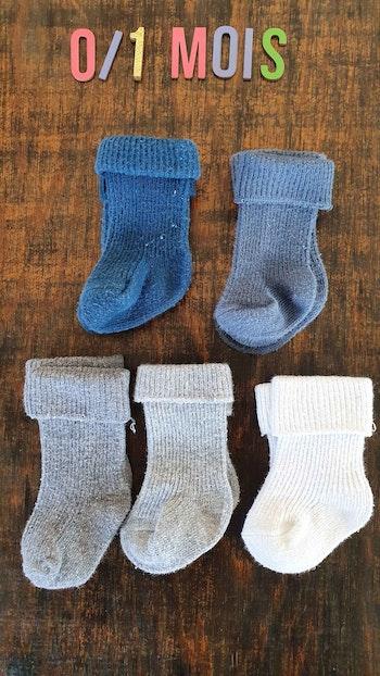 6 paires de Chaussettes garçon 0,1mois
