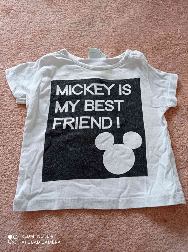 T-shirt bébé 6 mois Mickey