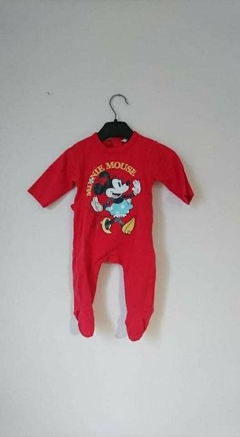 Grenouillère coton rouge minnie Disney 3 mois